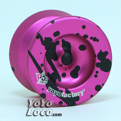 PopStar yoyo, Pink with Black Splash