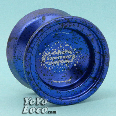 YoYoFactory Supernova, Dark Blue w/ Black Acid Wash (2013 Edition)