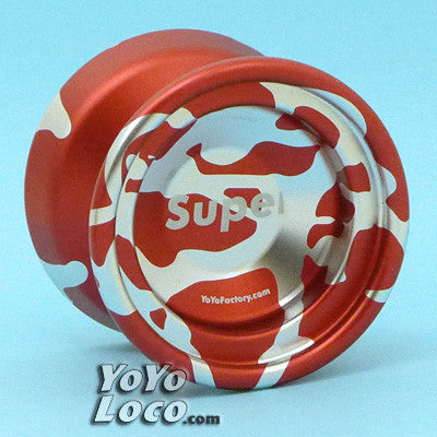 YoYoFactory SuperNova, Red with Silver Splash (2013 Edition)
