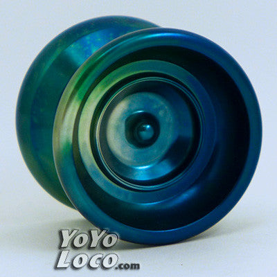 YoYofficer Brave yoyo, Blue/Green/Silver acid Wash