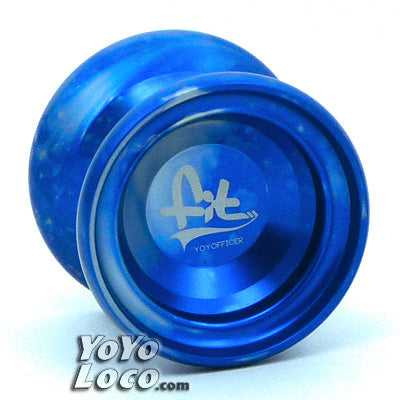 YoYofficer Fit yoyo, Blue/Sliver Acid Wash
