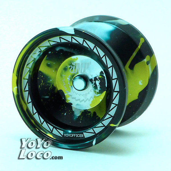 YoYofficer Imp Yoyo, Black, Gold and Silver Splash