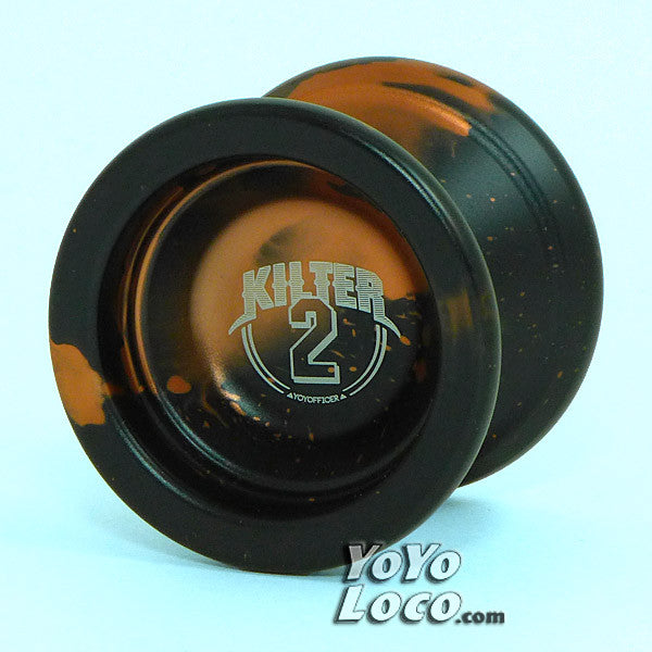 YoYofficer Kilter Yoyo, Black with Orange Splash