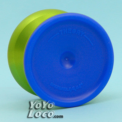 YoYoJam Theory Yoyo, Green with Blue Sidecaps