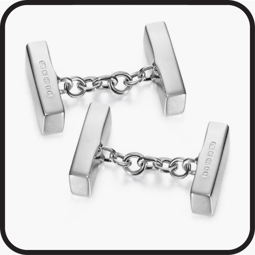 Cufflink type connector chain
