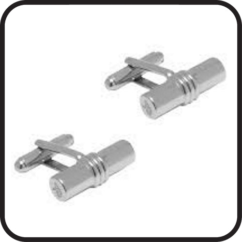 Cufflink type connector post