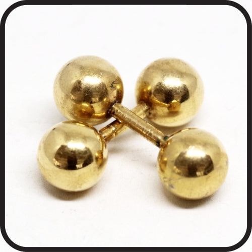 Cufflink face type barbell