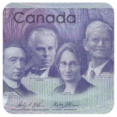 Canadian $10 2018. Featuring Agnes Macphail (first woman in Canadian history to be elected as a federal Member of Parliament), Sir John A. Macdonald, Sir George-Étienne Cartier and James Gladstone (Akay-na-muka) a member of the Kainai (Blood) First Nation.