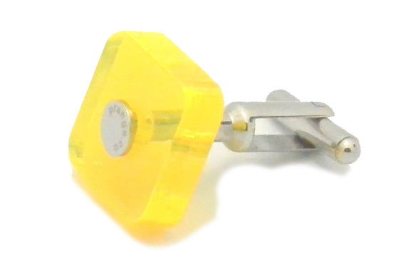 Light Crystal Yellow Cufflink Ankers - pranga