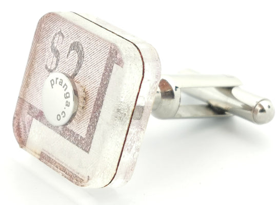 Canadian Tire Money 2 Dollar Cufflink Ankers - pranga