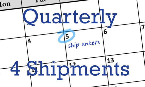Cufflink and Anker Subscription, Quarterly Shipments - pranga