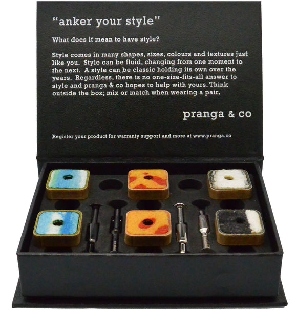 Curated Upcycled Cufflinks and Ankers - pranga