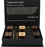 Curated Sustainable Growth Woods Cufflinks and Ankers - pranga