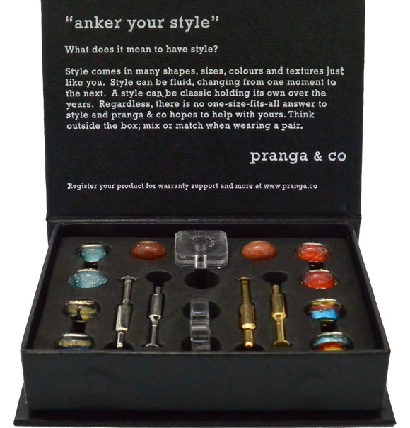 Curated Glasses Cufflinks and Ankers - pranga