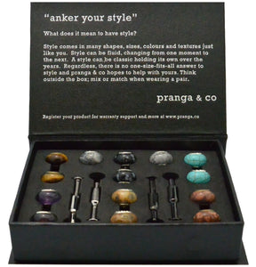Curated Semi-Precious Cufflinks and Ankers - pranga