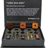 Curated Exotic Woods Cufflinks and Ankers - pranga