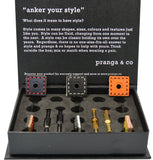 Curated Leathers Cufflinks and Ankers - pranga