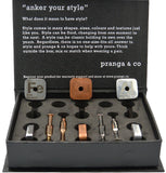 Curated Elemental FeCuAl Cufflinks and Ankers - pranga