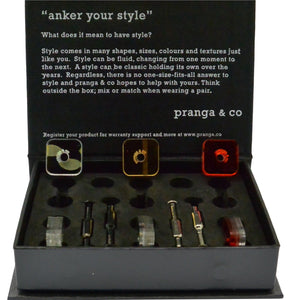 Curated Reclaimed Sensi Acrylic Cufflinks and Ankers - pranga