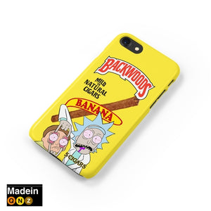 Rick and Morty Backwoods Cigar iPhone Case