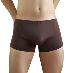 2017 Hot Sale Sexy Men Boxers Solid 6 Colors Underwear Shorts Pouch Soft Underpants Plus Size Panties Fat Trunk Male