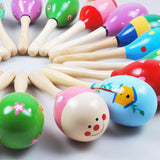 Hot High quality Cute colorful baby toys hammer kids music toys wooden sand hammer musical toys musical instrument drums