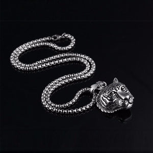 Stainless Steel 60CM Men Pendant Necklace Of Animal Tiger Exterior Men Necklace Tiger pendant necklace