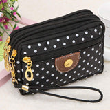 Xiniu Women Canvas Clutch Bag Ladies wallets and purses Zipper Bag #PYYW