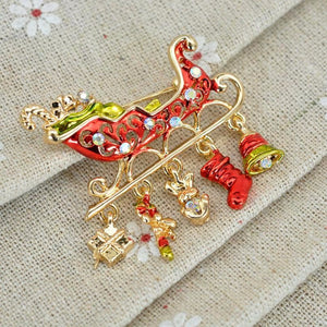 Christmas tree brooch pin