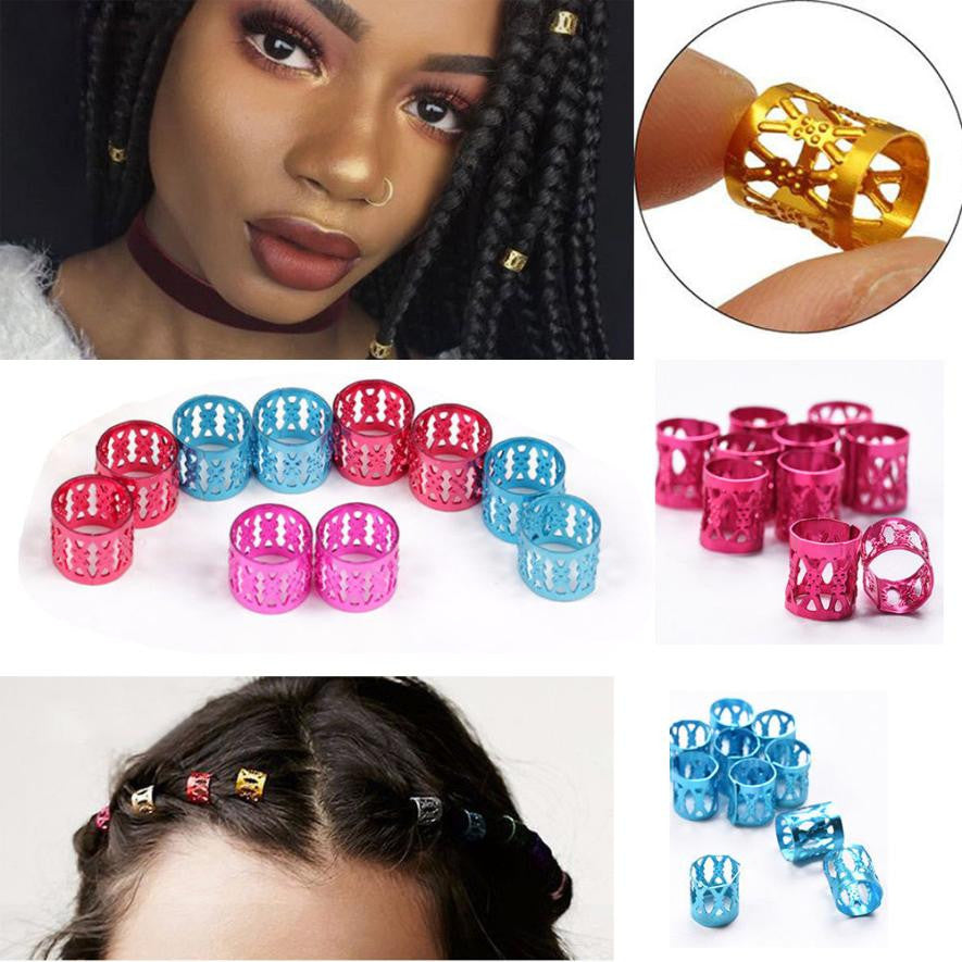 30Pcs 8MM Dreadlock Beads Adjustable Hair Braid Rings