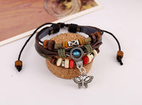 Women. Men Leather Chain Bracelet