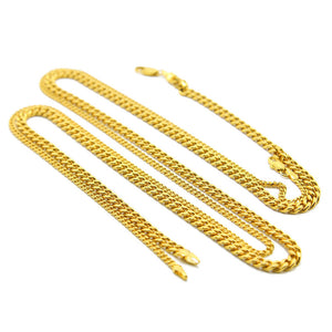 Necklace Gold Silver Fashion Jewelry For Men  5mm Snake Bone Necklace Gold