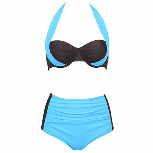 Two Pieces High Waisted Bikini Swimsuit Sexy Swimwear Swim Suit for Women