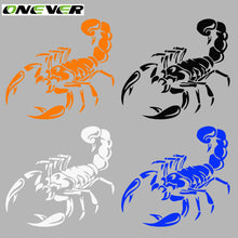 Onever 28cm Car Sticker Reflective 3D Scorpion Car Body Vinyl Stickers and Decals Auto Sticker Warning Window Creative Stickers