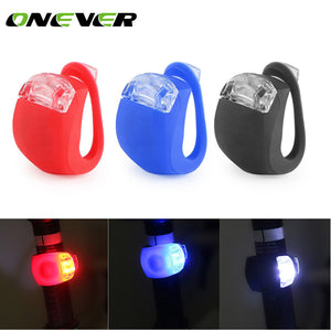 Bicycle LED Light Waterproof Head Front Rear Wheel Flash Lamp 3 Mode Silicone