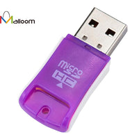 2017 Colorful Computer Accessories High Speed Mini Computer Speakers USB 2.0 Micro SD TF T-Flash Memory Card Reader Adapter