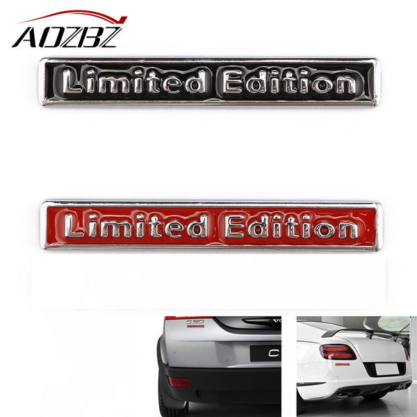 AOZBZ 3D Limited Edition Car Sticker Painted Zinc Alloy Trunk Fender Bumper Emblem Badge Decal Motorcycle Car Styling Decorative