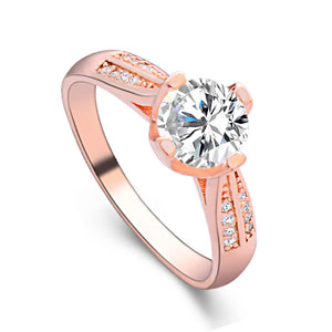 Flower Crystal Wedding Ring For Women