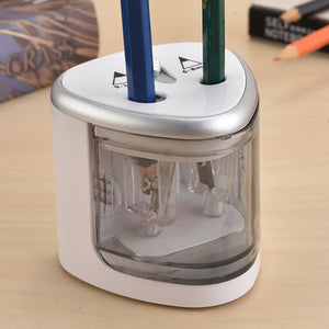 Electric Pencil Sharpener Automatic Battery Operated Pencil Sharpener with Dual Holes for 6-12mm Pencil Durable and Portable