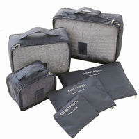 6Pcs Waterproof Travel Packing Cube Luggage