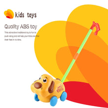 Funny Cute Hand Push Animal Toys Dog Shaped Cartoon Animal Cart Toys PUSH ABS TOY FOR Baby/Toddler/Child Walking