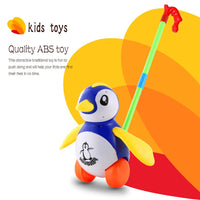 Funny Cute Hand Push Animal Toys Penguin Shaped Cartoon Animal Cart Toys PUSH ABS TOY FOR Baby/Toddler/Child Walking