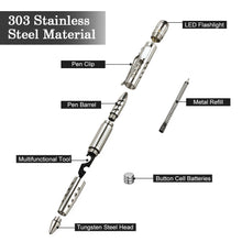 Stainless Steel Tactical Pen Self Defense Weapon
