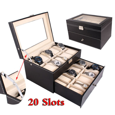 20 Slot Watch Display Case