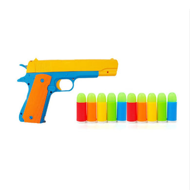 10pcs/lot Colorful Luminous Bullets Mini Soft Bullet Toy Gun For Pistol Gun Simulation Bullet Toys For Children - buy4julius