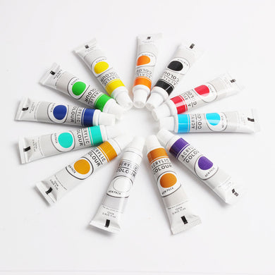 12-Piece Painting Set, Acrylic Pigment