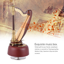 Classical Wind Up Harp Music Box