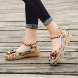 Women's Embroidered Bowknot Flat Casual Shoes