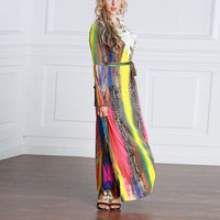 New Arabic Style Dress Printed Muslim Gown with White Applique Middle Eastern Style Ethnic Style Robe for Women Girls