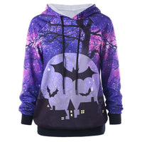 Women Long Sleeve Hooded Halloween Top